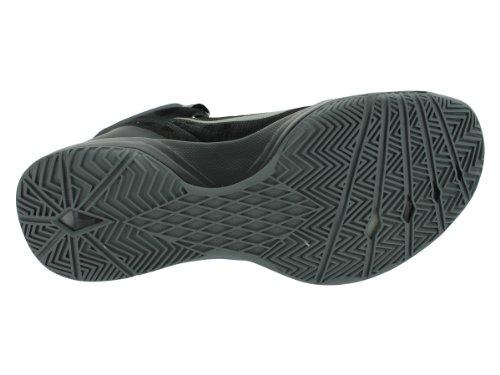 Nike Zoom Zoom Hyperquickness Basketballschuhe Schwarz / Metallic Silber-Dunkelgrau