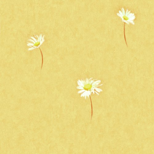 Brewster 402-FI46023 Kitchen and Bath Resource II Daisy Toss Wallpaper, 20.5-Inch by 396-Inch, Yellow