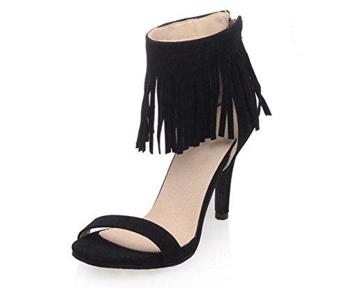 glands Mesdames 33 8cm Les été 39 Jours Chaussures 41 Shopping fête Romaines Sandales Xie Tous Gommages Black EAndwOqqC