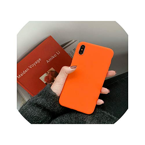 Matte Green Bright Orange with Heart Candy Solid Color Cases for Huawei P30  P20 P20 Mate 10 20 Pro Lite for Honor 8 8X 10 Lite Max,4,P30 Pro