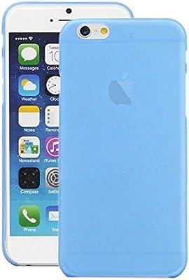 f8f35531f00 iPhone 6 Funda de movil - SODIAL(R)3 piezas iPhone 6 0.3MM Ultra fino  delgado Mate Duro Corteza Claro Funda Cubierta Celeste