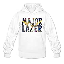 MARY Men's Major Lazer Watch Out For This Words Hoodie White