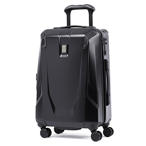 Travelpro Crew 11 21'' Hardside Spinner, Obsidian Black/ Blue Interior by Travelpro