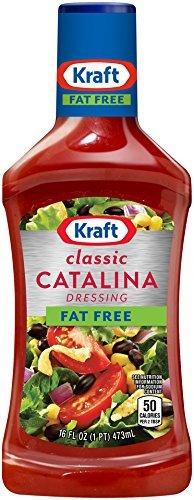 Kraft Fat Free Salad Dressing - Kraft Free Catalina Fat Free Salad Dressing 16oz Bottles (Pack of 3)