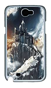 Samsung Galaxy Note 2 Case and Cover- Mystical Castle PC Case for Samsung Galaxy Note 2 / Note II / N7100 White