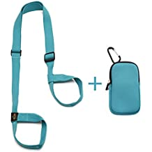 Heathyoga Yoga Mat Strap, Free Phone&Keys Pouch, 100% Organic Cotton, Adjustable Yoga Strap for All Size Yoga Mats and Excecise Mats.