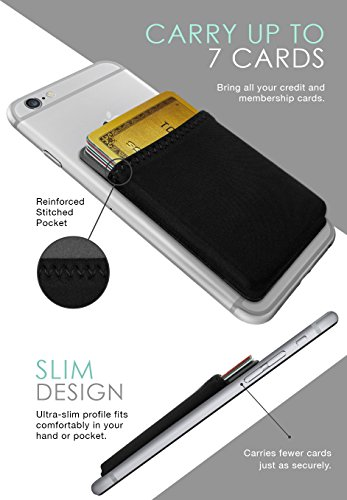 silk stick on phone wallet sidecar slim expandable