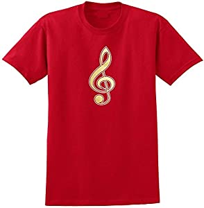Music Notation Treble Clef - Red Rot T Shirt Größe 87cm 36in Small MusicaliTee