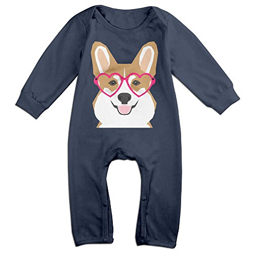 HOHOE Boy's & Girl's Welsh Corgi Long Sleeve Jumpsuit Outfits 24 (Babe Ruth Halloween Costumes)