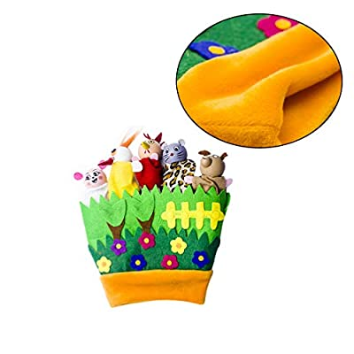 Amosfun Plush Animals Finger Puppet Toys Mini Plush Figures Toy Soft Hands Finger Puppets Game for Christmas Party Bag Fillers (Green): Health & Personal Care