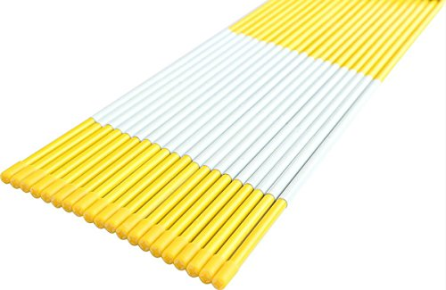 FiberMarker Snow Markers 60-Inch Yellow 20-Pack 5/16-Inch Dia Snow - Wellco Box