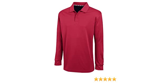 9f0b6916d Champion Men's Ultimate Double Dry Long Sleeve Polo (Scarlet Red, Small) at  Amazon Men's Clothing store: Athletic Shirts
