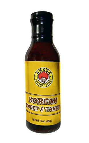 Sweet & Tangy Sauce - Great for BBQ, Cooking Sauce or Marinade - Goes Great on Ribs, Chicken Wings, Pork & More (1 Bottle) (No High Fructose Corn Syrup)