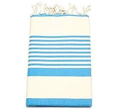 Fouta de toalla de sauna Pest veces peshte veces - Extra Grande 197 x 100 cm - 100% algodón de Túnez para baño, picnic, Yoga o playa (como un Türkisches de ...