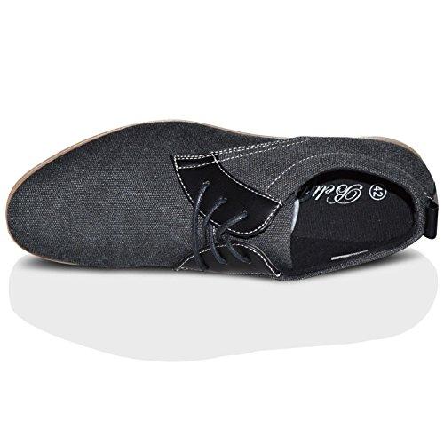 Xelay - zapatilla baja hombre Black Pointed Toe