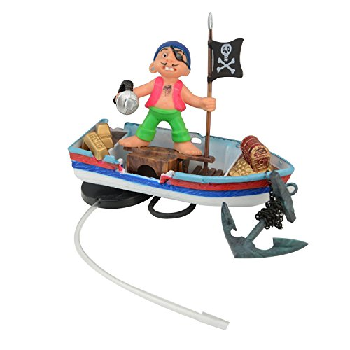 Action Aquarium - Saim Guarding Pirate & Pirate Ships Live Action Aquarium Ornaments