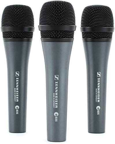 Sennheiser E835 Microphone, Pack of 3