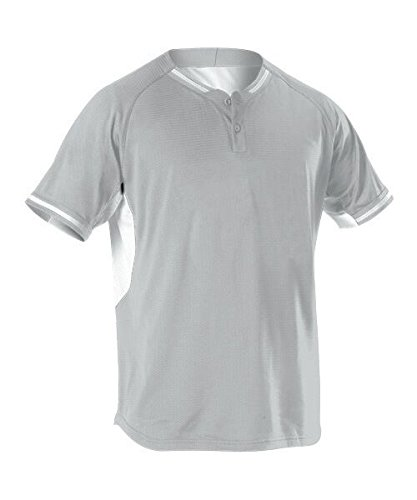 Alleson Athletic Men's Baseball Jersey, Grey, X-Large by Alleson Athletic