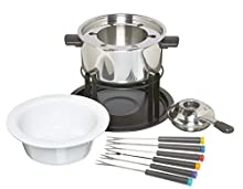 Kitchen Craft - Set de Fondue de Acero Inoxidable y cerámica (con 6 Pinchos)