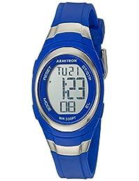Armitron Sport Women's 45/7034BLU Digital Chronograph Matte Blue Resin Strap Watch