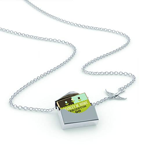NEONBLOND Locket Necklace US Gardens Stanley M. Rowe Arboretum - OH in a Silver Envelope