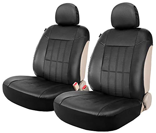 Faux Leather Sideless Seat Covers for Car Truck SUV 2 Front