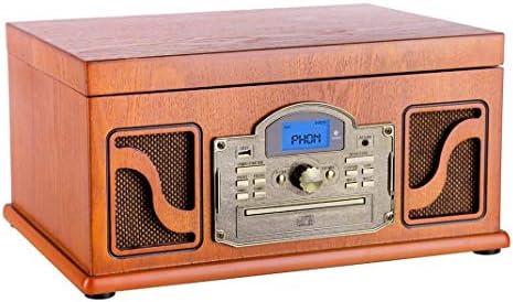 Lauson CL 123 -Tocadiscos (CD, USB, MP3, LCD), color marrón ...