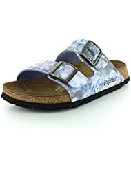 Birkenstock Womens Arizona Silky Rose Blue Birko-Flor? Sandal 37 (US Womens 6-6.5) Narrow