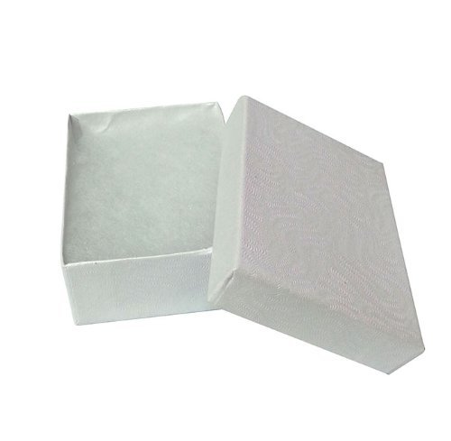 100 Cotton Boxes White Pendant Chain Charm Jewelry Displays 2 5/8'' by FindingKing (Image #3)
