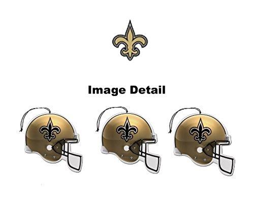 Licensed NFL New Orleans Saints Nu-Car Scent Helmet Shape Air Freshener 3 Pack Set Team Logo (Gift Box Included)