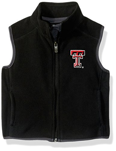 NCAA Texas Tech Red Raiders Kids & Youth Boys Scrimmage Polar Fleece Vest, Black, Youth Large(14-16) by NCAA by Outerstuff