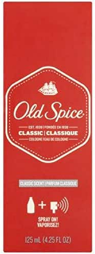 Old Spice Classic Cologne Spray 4.25 oz (Pack of 2)