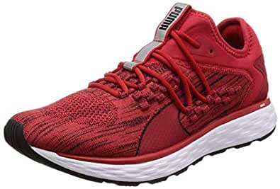 PUMA Men's Speed Fusefit Ribbon Red-blk Shoes, Ribbon Red-puma Black, 7.5 US
