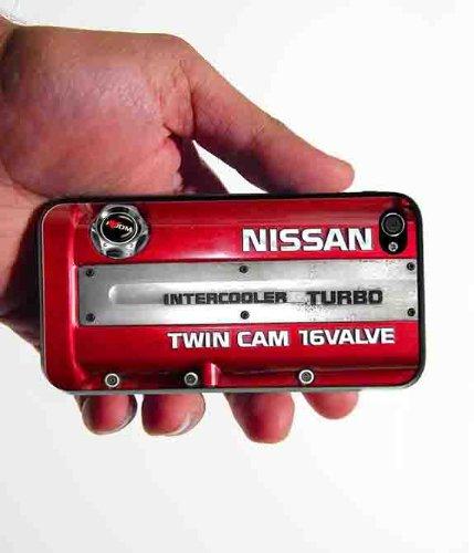 Inspired Nissan sr20det JDM Engine Design iphone 4 & 4s case Rubber silicone