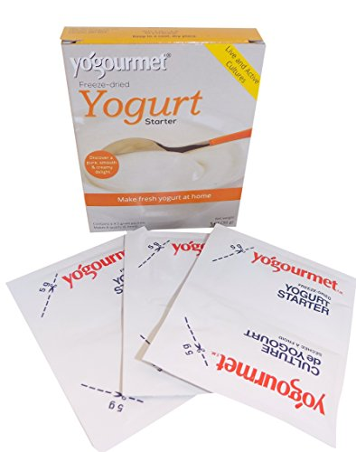 - Yogourmet Freeze Dried Yogurt Starter, 1 ounce box (Pack of 3) (Packaging May Vary)