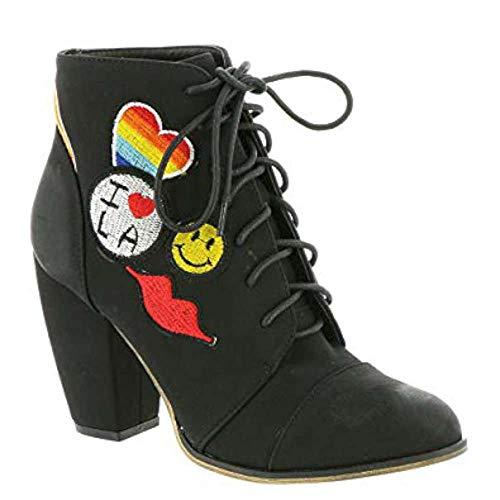 - Michael Antonio Womens Meow Closed Toe Ankle Fashion Boots, Black, Size 8.0