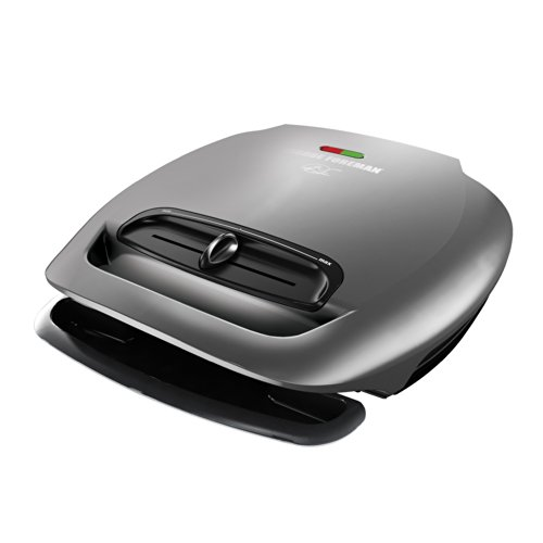 George Foreman GR2081HM 5-Serving Classic Plate Grill with Variable Temperature, Platinum