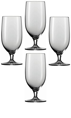 - Circleware Bier Footed Beer/Drinking Glasses, Set of 4, 20 oz., Clear