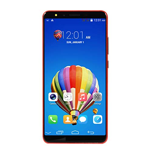 Smartphone-5.7''Ultrathin Android 6.0 Dual-Core 512MB+4G GSM WiFi Dual Smart Cellphone (Red)