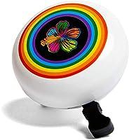 DayJay, Rainbow Beach Flower Bike Bell for Kids, Loud Ringing Handlebar Bell for Girls Bike or Scooter Bell, B