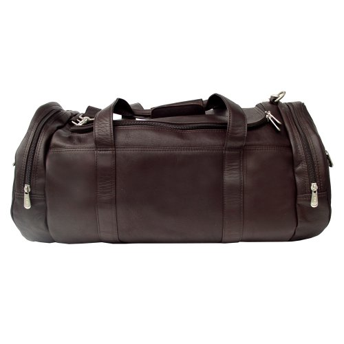 Piel Leather Gym Bag, Chocolate, One Size by Piel Leather