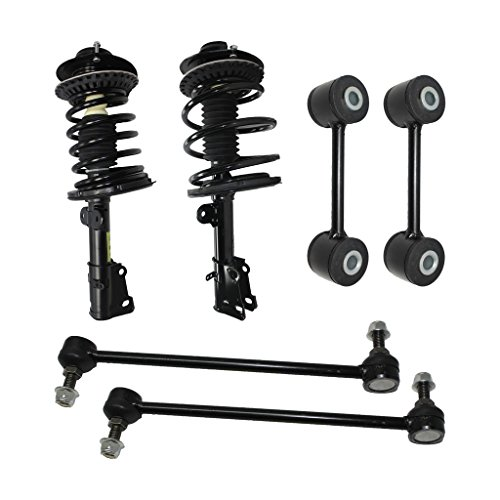Detroit Axle - New 6pc Kit - Both (2) Complete Front Quick Strut Assembly, All (4) Front & Rear Sway Bar End Links for Chrysler & Dodge Mini-Van's 10-Year Warranty - Front Strut Bar Mini