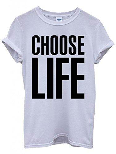 Choose Life Geek Nerd Funny Hipster Swag White Weiß Damen Herren Men Women Unisex Top T-Shirt