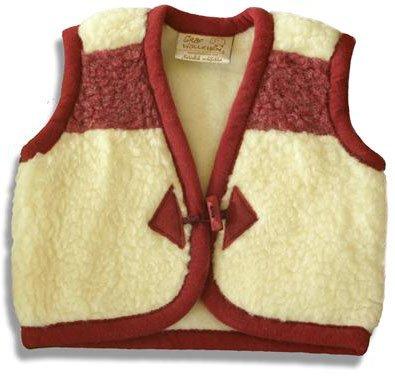 SamWo, bambini gilet in pura lana di pecora, morbido caldo