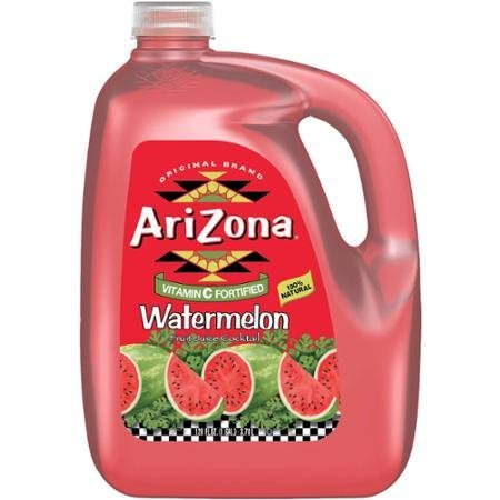 AriZona Watermelon Fruit Juice Cocktail, 1 gal (Pack of 4)