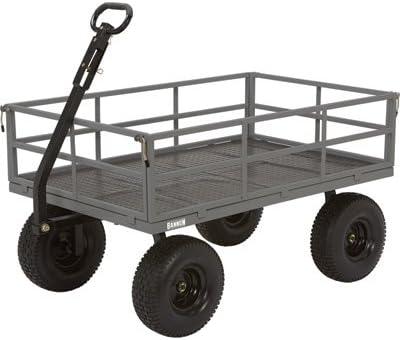 Bannon Industrial-Grade Steel Garden Wagon – 1,500-Lb. Capacity, 52in.L x 34in.W, 15in. Tires