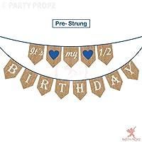 Party Propz Half Birthday Party Decoration, It is My 1/2 Birthday Banner / 1/2 Birthday Decorations / Half Birthday Banner / Half Birthday Banner boy