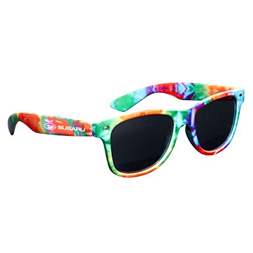 SUBARU Official Tie Dye Sunglasses Dark Tint UVA/UVB Protection Outback Legacy Forester WRX ()