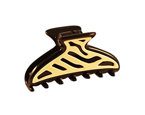 zebra hair clips - 2