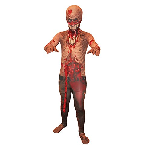 Morphsuits Kids Exploding Guts Zombie Monster Costume - Medium 3'6-3'11 / 8-10 Years - Easy Jeff The Killer Costume